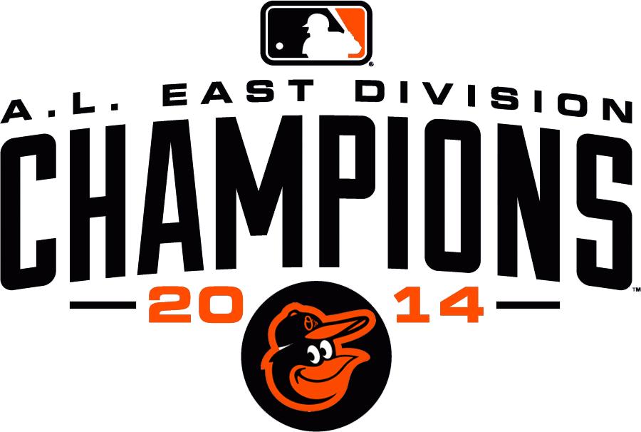 Baltimore Orioles Logo Champion Logo (2014) - Baltimore Orioles 2014 AL East Division Champions logo SportsLogos.Net