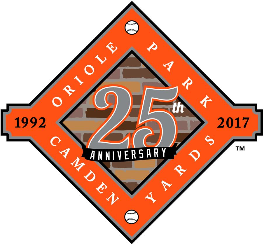 Baltimore Orioles Logo Stadium Logo (2017) - Oriole Park at Camden Yards 25th Anniversary SportsLogos.Net
