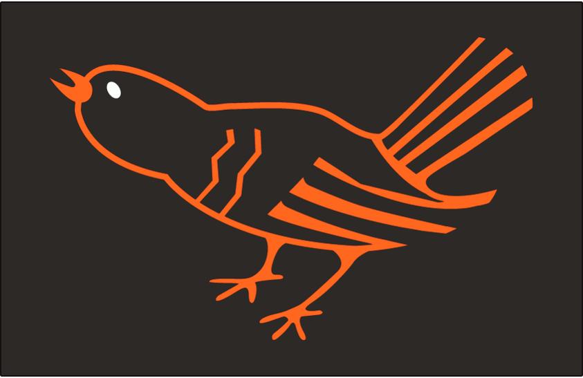 Baltimore Orioles Logo Cap Logo (1964-1965) - An orange and black