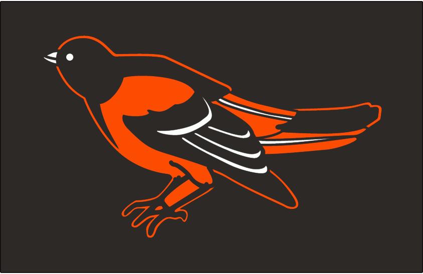 Baltimore Orioles Logo Cap Logo (1989-1997) - An ornithologically correct black and orange oriole on black, worn on the Baltimore Orioles home and road caps from 1989 through 1997 SportsLogos.Net