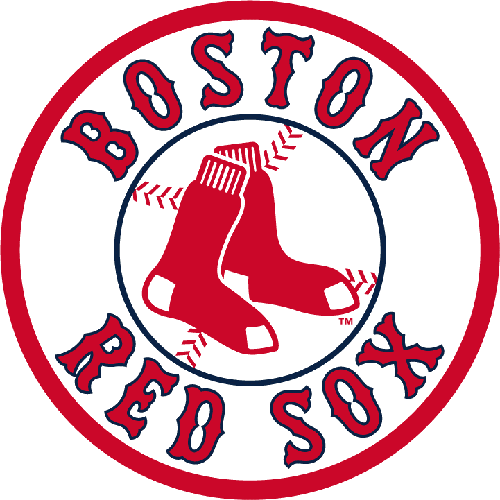 Boston Red Sox Logo Alternate Logo (2009-Pres) - Pair of red socks inside a blue and red circle with team script SportsLogos.Net