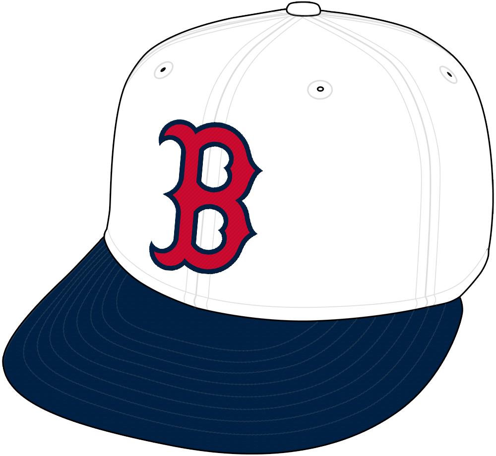 Boston Red Sox Cap Cap (1997) - Alternate White Cap SportsLogos.Net