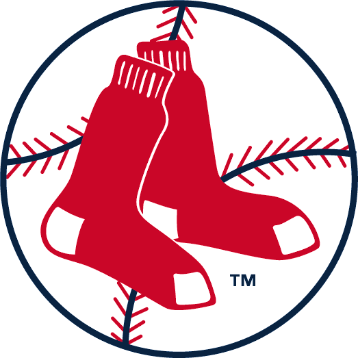 Boston Red Sox Logo Primary Logo (1970-1975) - A pair of red socks on a baseball in a circle SportsLogos.Net