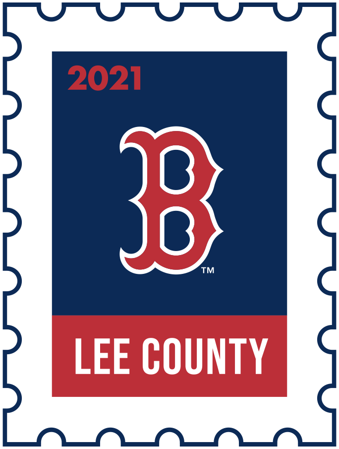 Boston Red Sox Logo Event Logo (2021) - The Boston Red Sox 2021 Spring Training logo, the design follows a league-wide style using a postage stamp in team colours with the team logo in the middle. SportsLogos.Net