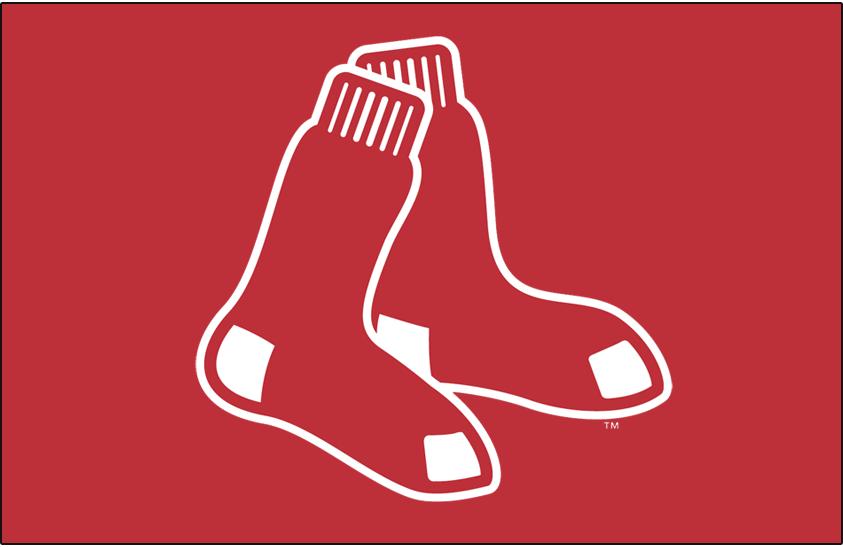 Boston Red Sox Logo Primary Dark Logo (2009-Pres) - Red Sox primary logo on red SportsLogos.Net