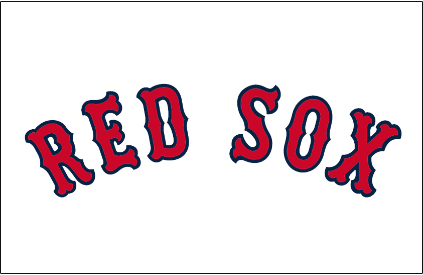 Boston Red Sox Logo Jersey Logo (1936-1978) - Red Sox in red arched with blue outline worn on Boston Red Sox home white jersey from 1936 to 1978. Lettering adjusted slightly for 1979 season. SportsLogos.Net