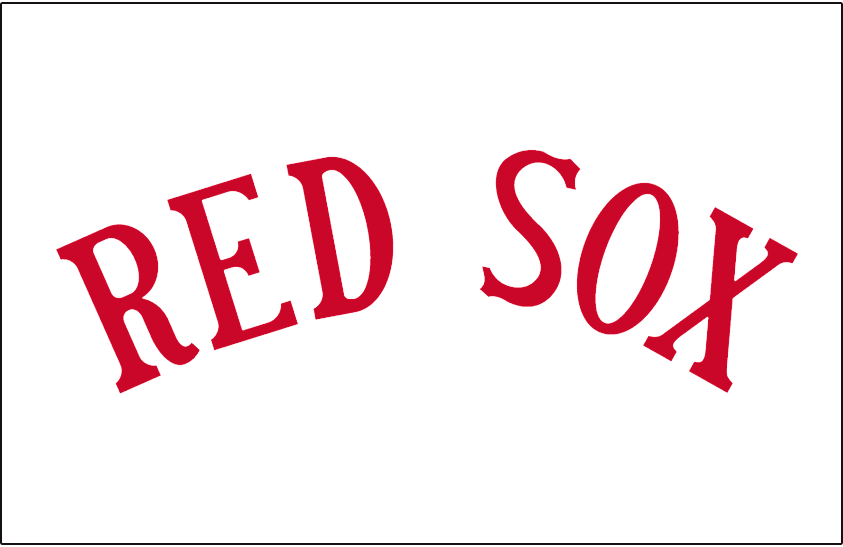 Boston Red Sox Logo Jersey Logo (1935) - RED SOX in red arched on white, worn on the Boston Red Sox home uniforms during the 1935 season only SportsLogos.Net