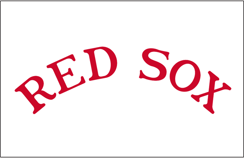 Boston Red Sox Logo Jersey Logo (1932) - RED SOX in red arched on white, worn on the Boston Red Sox home uniforms during the 1932 season only SportsLogos.Net