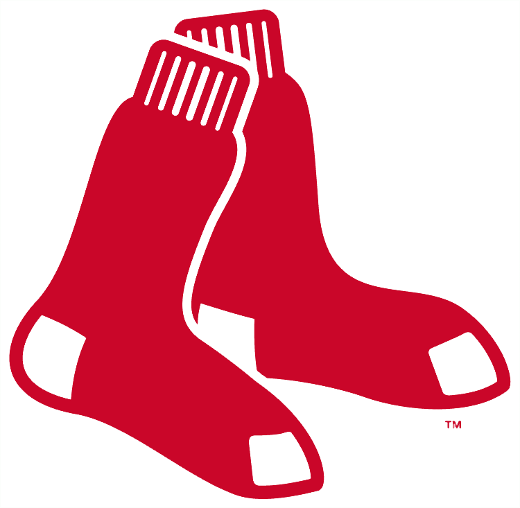 Boston Red Sox Logo Primary Logo (2009-Pres) - A pair of red socks hanging SportsLogos.Net