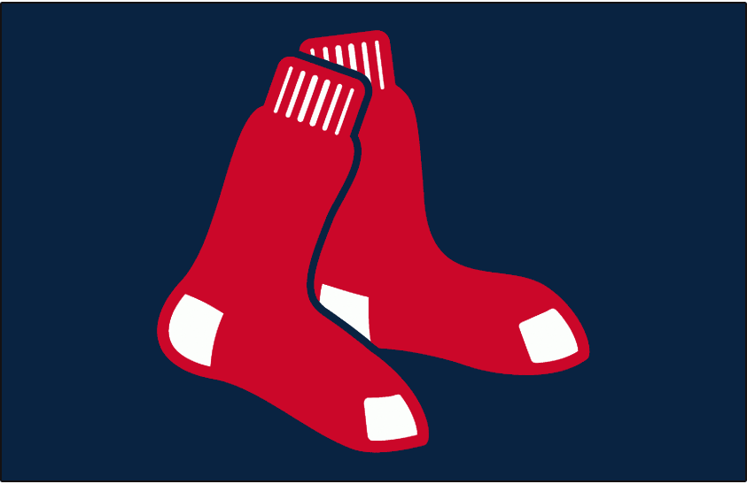 Boston Red Sox Logo Cap Logo (2009) - A pair of red socks on navy, worn on the Boston Red Sox home alternate caps during the 2009 season only. SportsLogos.Net