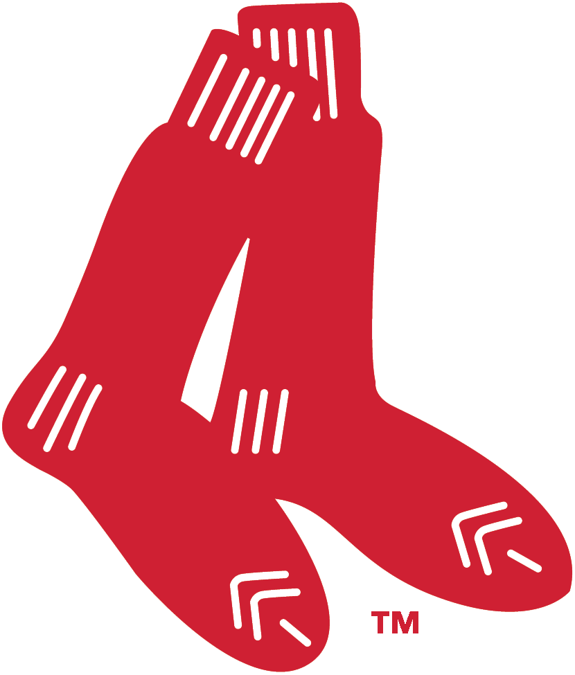 Boston Red Sox Logo Primary Logo (1924-1960) - A pair of red socks SportsLogos.Net