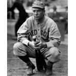 Boston Red Sox (1912) Tris Speaker wearing the Boston Red Sox road pinstriped alternate uniform in 1912