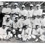 Boston Red Sox (1918) Members of the Boston Red Sox pose for their team photo during the 1918 season