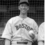 Boston Red Sox (1934) Lefty Grove poses wearing the Boston Red Sox road uniform before a game in 1934