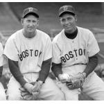Boston Red Sox (1952) Roy Scarborough and Harry Taylor in Boston Red Sox road uniforms during the 1952 season