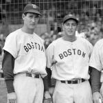 Boston Red Sox (1948) Ted Williams and Sam Mele in Boston Red Sox road uniforms during the 1948 season