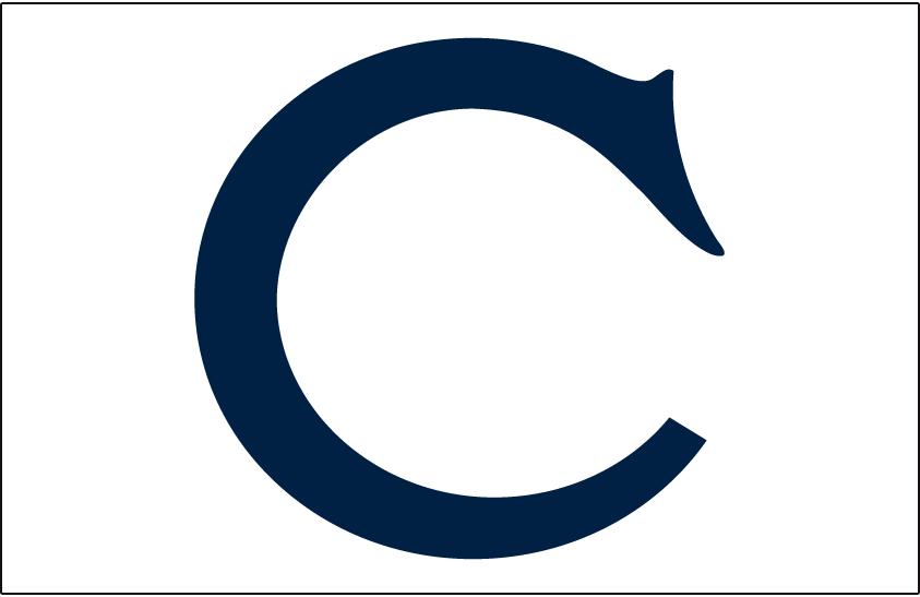 Chicago White Sox Logo Jersey Logo (1906-1907) - Navy blue C on white, worn on White Sox home jersey from 1906-1907 SportsLogos.Net
