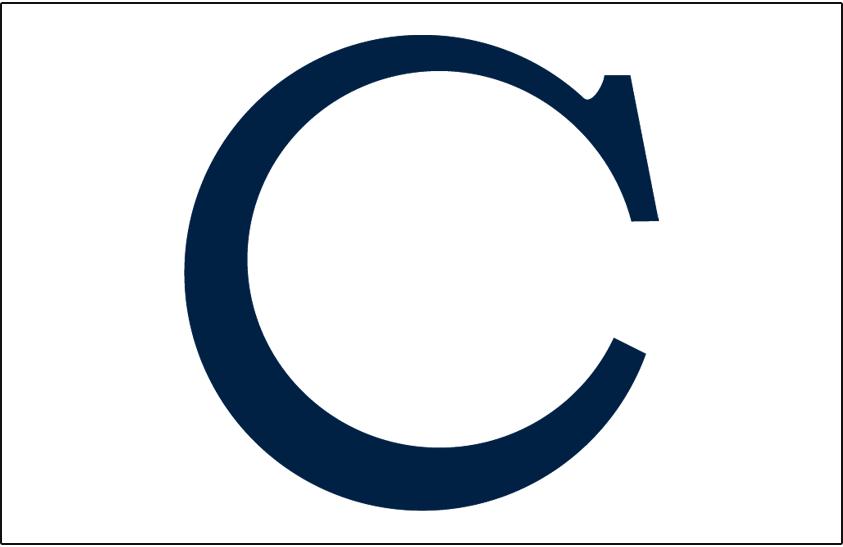 Chicago White Sox Logo Cap Logo (1910) - Navy blue C on white, worn on White Sox caps at home during the 1910 season SportsLogos.Net