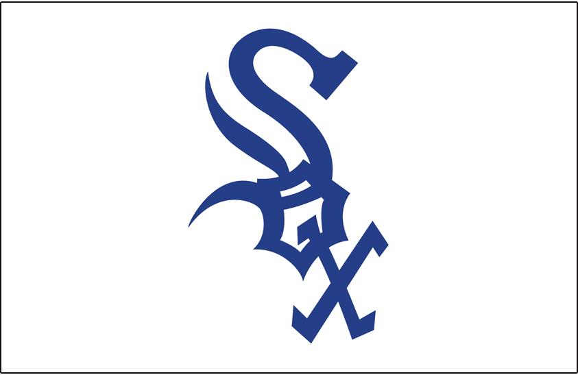 Chicago White Sox Logo Jersey Logo (1969-1970) - Sox in blue on white, worn on white Sox home jersey in 1969 and 1970 SportsLogos.Net