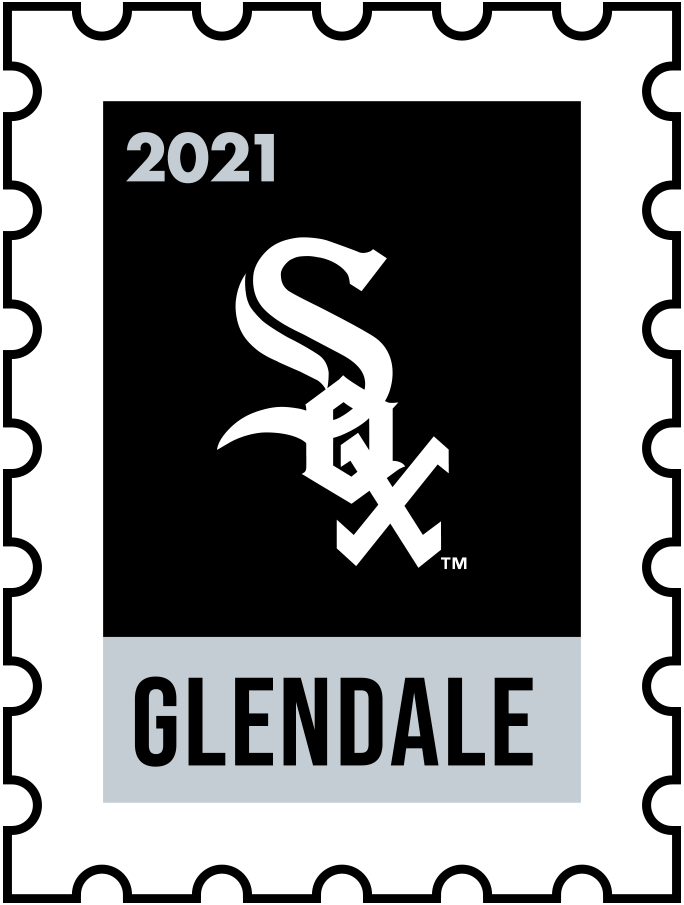 Chicago White Sox Logo Event Logo (2021) - The Chicago White Sox 2021 Spring Training logo, the design follows a league-wide style using a postage stamp in team colours with the team logo in the middle. SportsLogos.Net