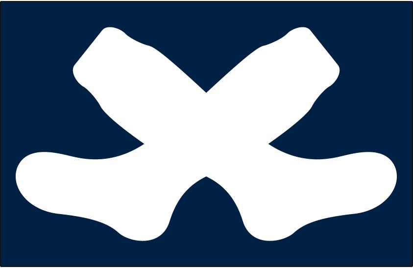 Chicago White Sox Logo Cap Logo (1926) - Two crossed white socks on navy blue, worn on Chicago White Sox road cap during 1926 season SportsLogos.Net
