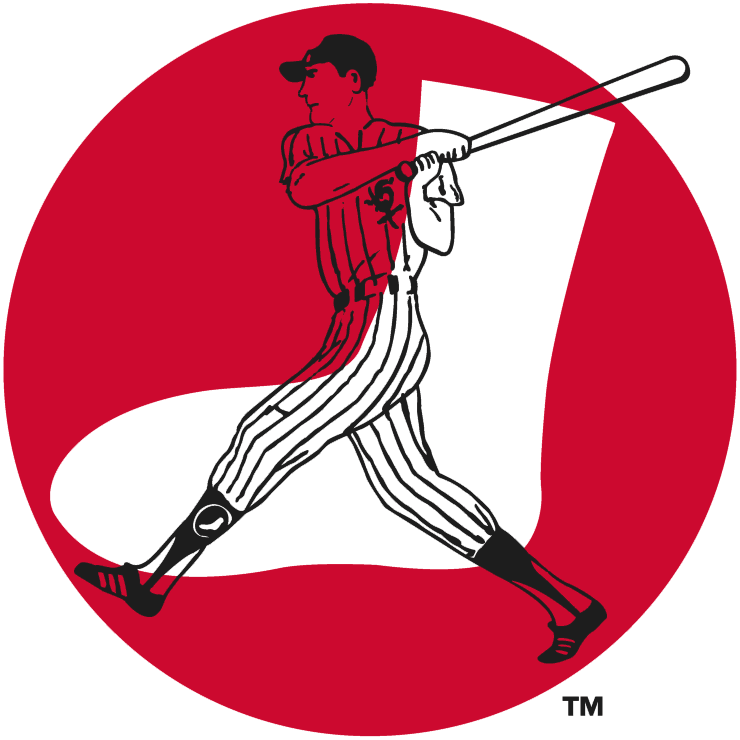 Chicago White Sox Logo Primary Logo (1960-1975) - Transparent batter over top white sock inside red circle SportsLogos.Net
