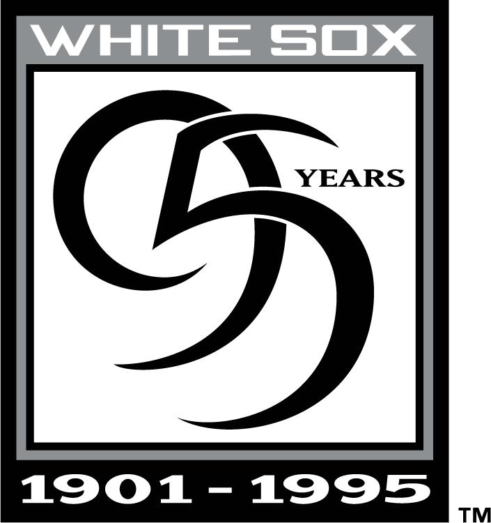 Chicago White Sox Logo Anniversary Logo (1995) - Chicago White Sox 95 Years (Home & Road Version) SportsLogos.Net