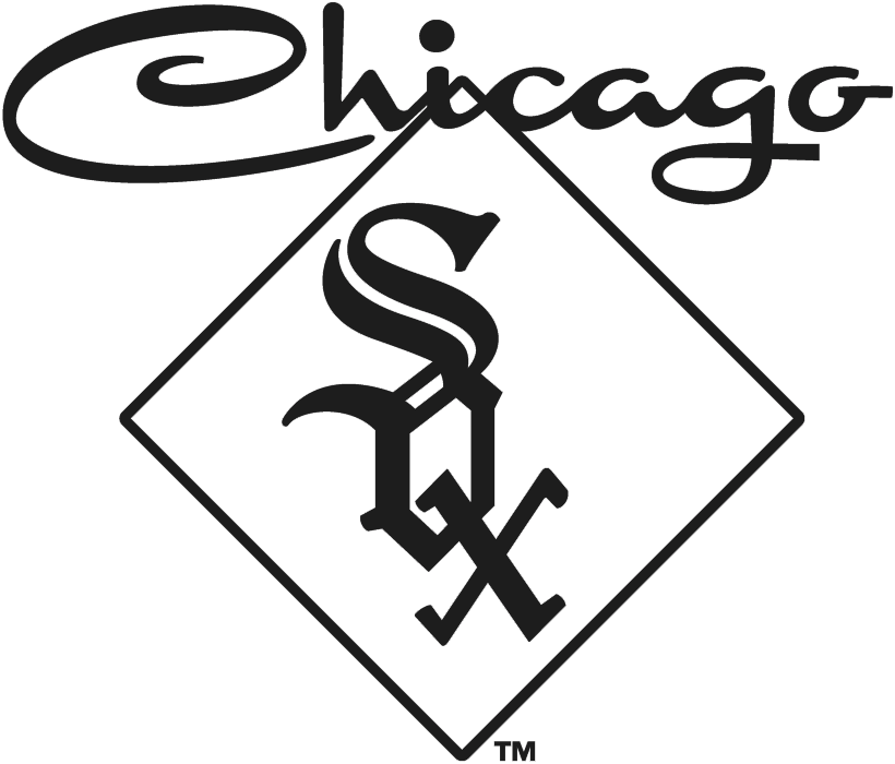 Chicago White Sox Logo Alternate Logo (1959) - SOX in black inside a diamond with Chicago scripted above in black SportsLogos.Net