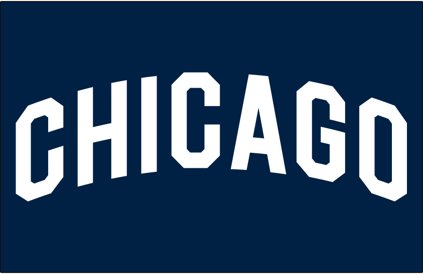 Chicago White Sox Logo Jersey Logo (1926) - CHICAGO arched in white on navy blue, worn on White Sox road jersey in 1926 SportsLogos.Net
