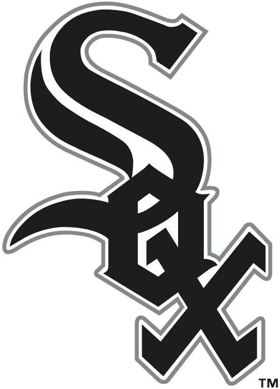 Chicago White Sox Logo Primary Logo (1991-Pres) - Sox calligraphed in black on a slant with white and silver outlines SportsLogos.Net