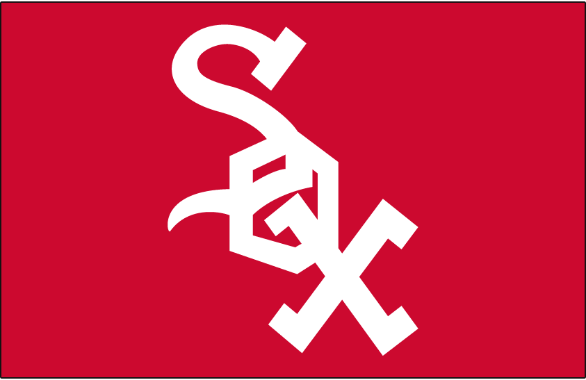 Chicago White Sox Logo Cap Logo (1971-1975) - Sox in white on a red background SportsLogos.Net