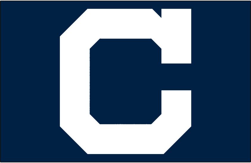 Cleveland Indians Logo Cap Logo (1915-1916) - White block C on navy blue worn on Cleveland Indians road cap in 1915 and 1916 SportsLogos.Net