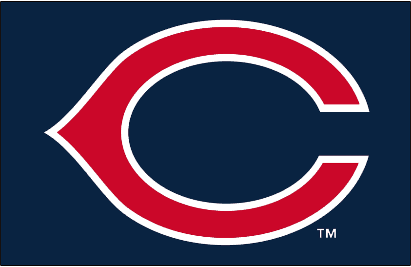 Cleveland Indians Logo Cap Logo (1970-1971) - A red wishbone-style C outlined in white on blue, worn on Cleveland Indians cap from 1958-61, again from 1963-64, and once again from 1970-71 SportsLogos.Net