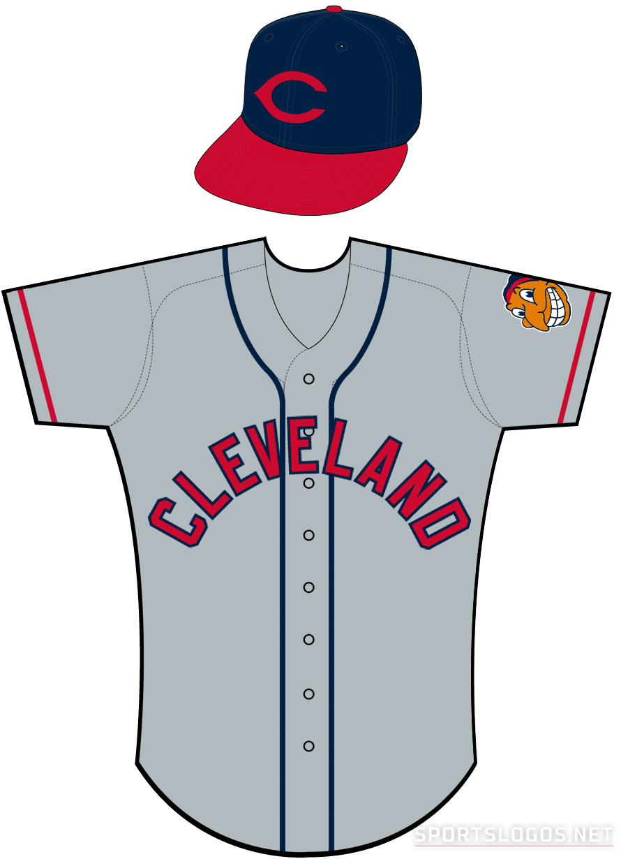 Cleveland Indians Uniform Road Uniform (1944-1949) - Cleveland Indians road uniform worn from 1944 through 1949 SportsLogos.Net