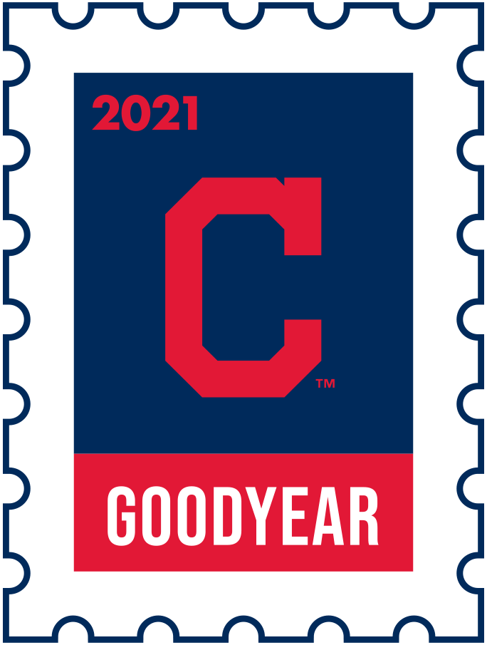 Cleveland Indians Logo Event Logo (2021) - The Cleveland Indians 2021 Spring Training logo, the design follows a league-wide style using a postage stamp in team colours with the team logo in the middle. SportsLogos.Net