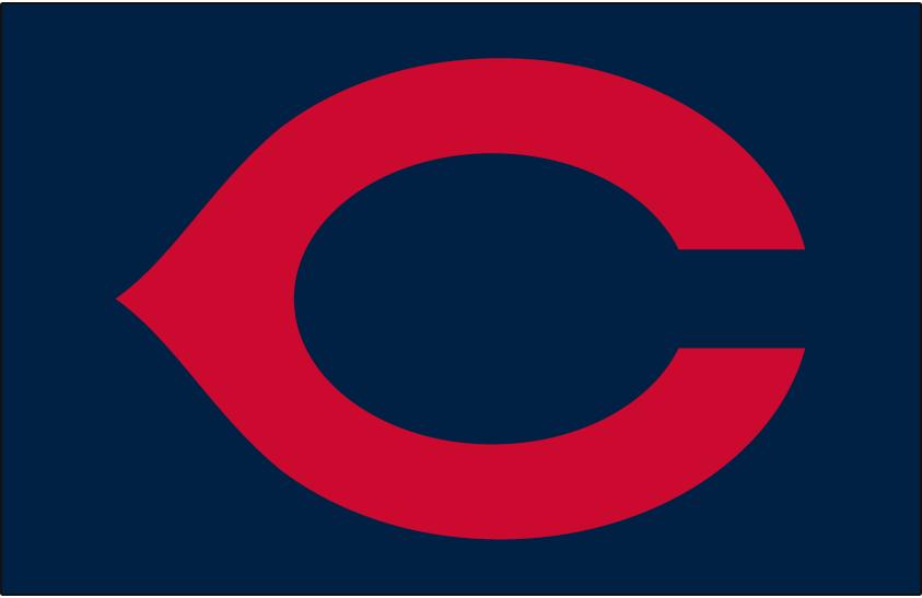 Cleveland Indians Logo Cap Logo (1933-1938) - Red wishbone C on navy blue, worn on Cleveland Indians home cap from 1933-1938 SportsLogos.Net