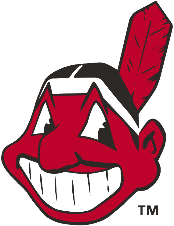 Cleveland Indians Logo Alternate Logo (1979-1985) - Chief Wahoo facing the left in red and black. Worn on Indians jersey sleeve from 1979-85 (Indians switched to a red and blue Wahoo logo on the sleeves in 1986) SportsLogos.Net