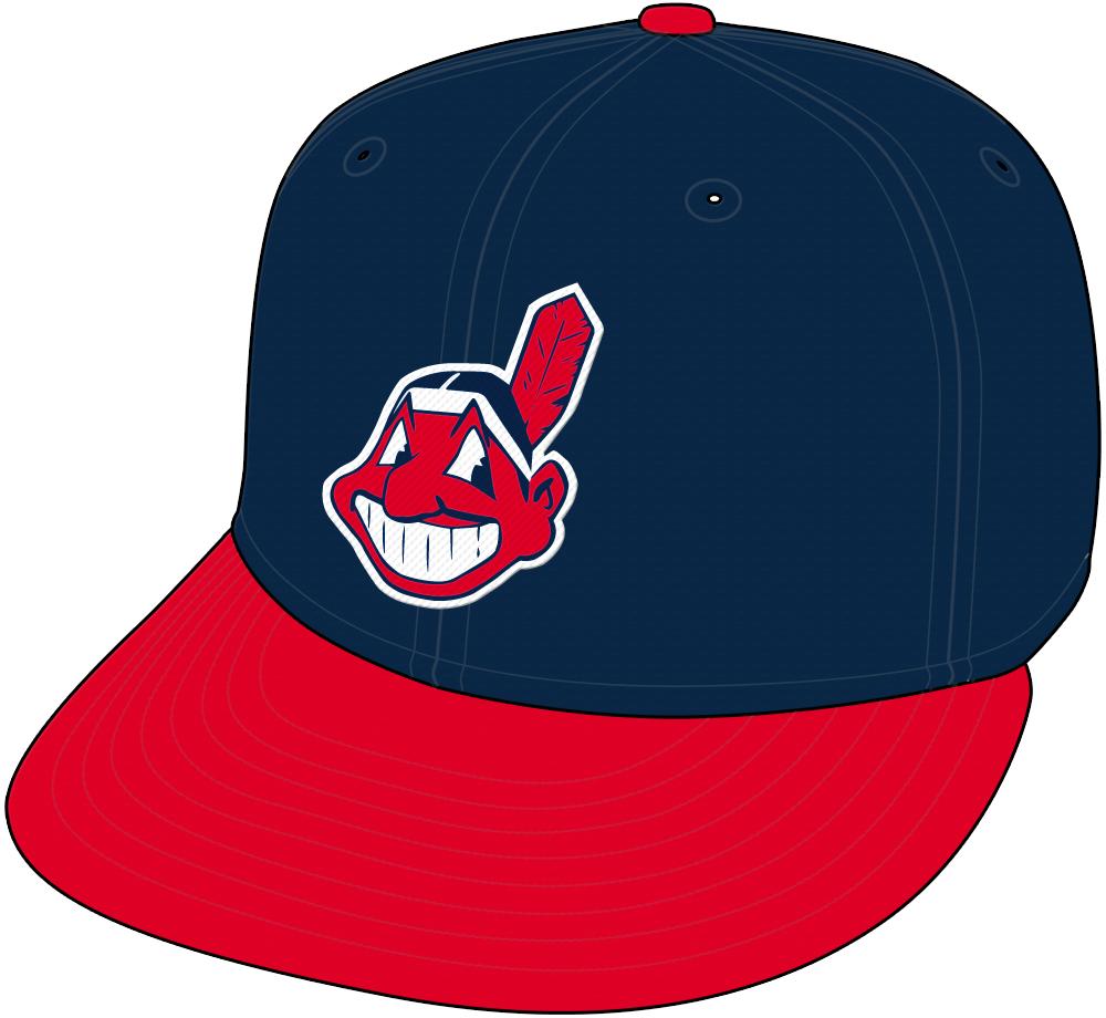 Cleveland Indians Cap Cap (1986-2002) - Home and Road Cap (1986-93). Home Cap (1994-2002) SportsLogos.Net