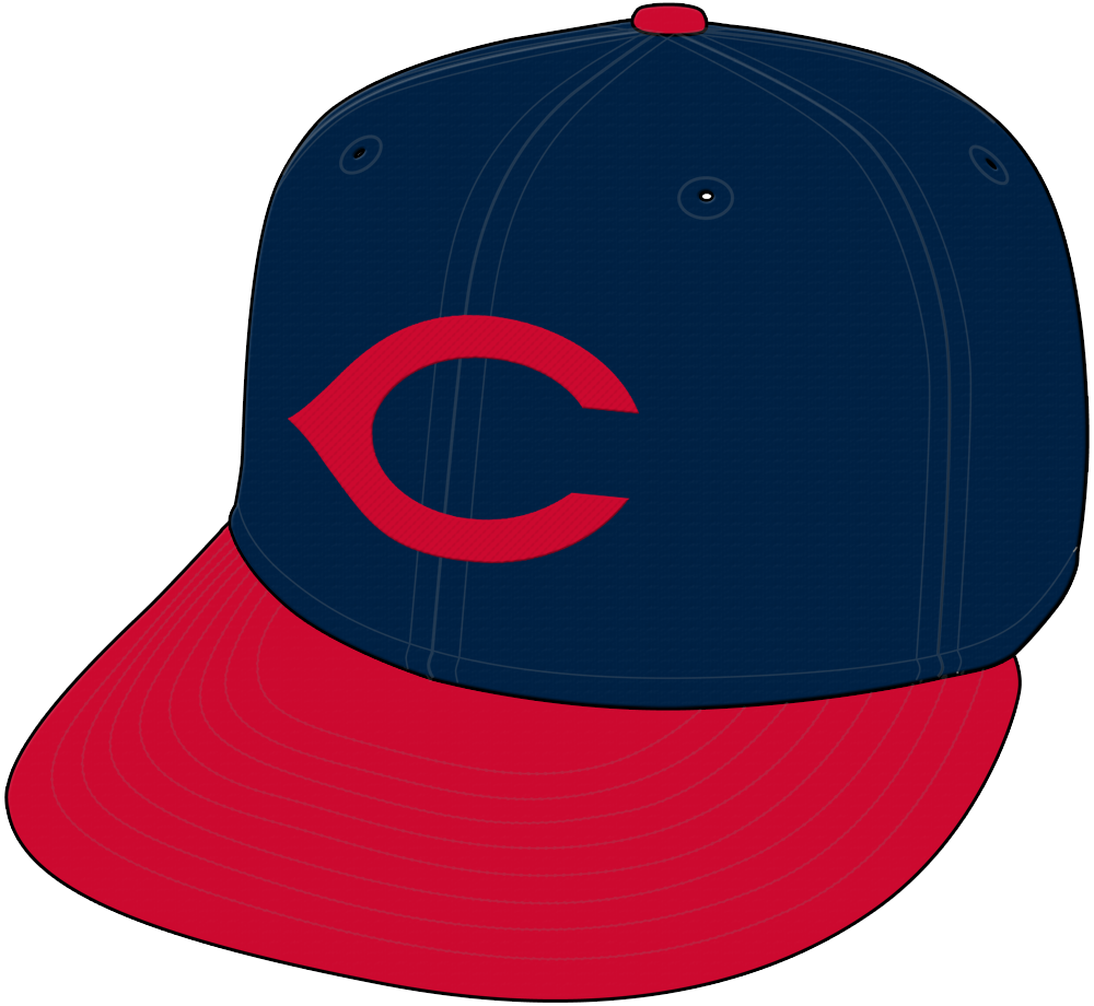 Cleveland Indians Cap Cap (1945-1950) - Cleveland Indians cap, worn at home and on the road from 1945 through 1950 SportsLogos.Net