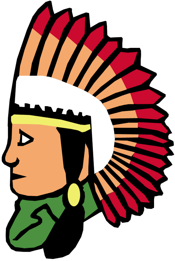 Cleveland Indians Logo Primary Logo (1933-1938) - Indian in profile with head dress SportsLogos.Net