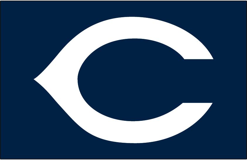 Cleveland Indians Logo Cap Logo (1939-1941) - White wishbone C on navy blue, worn on Cleveland Indians road cap from 1939-1941 SportsLogos.Net