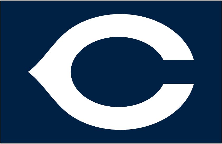 Cleveland Indians Logo Cap Logo (1937-1938) - White wishbone C on navy blue, worn on Cleveland Indians road cap from 1937-1938 SportsLogos.Net