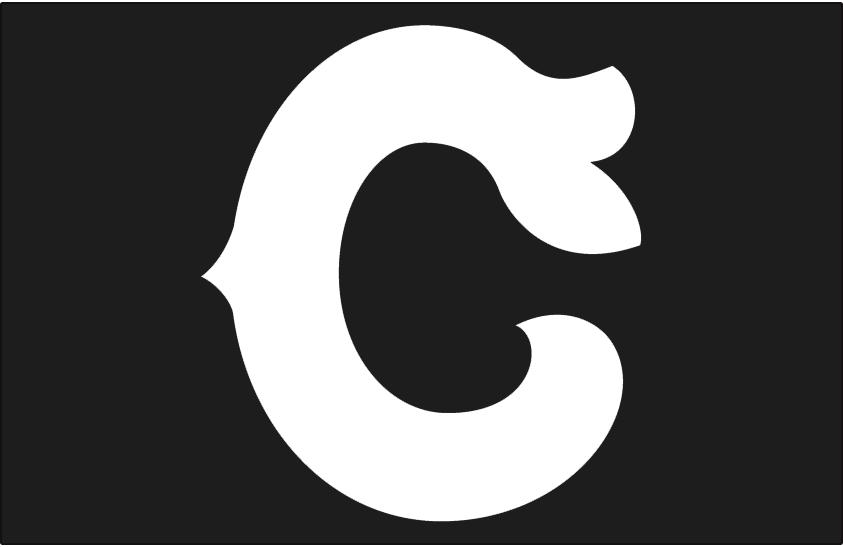 Cleveland Indians Logo Cap Logo (1921) - White C on black, worn on Cleveland Indians road cap in 1921 only SportsLogos.Net