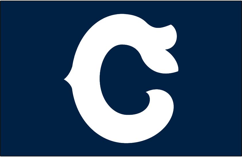 Cleveland Indians Logo Cap Logo (1941) - White C on navy blue, worn on Cleveland Indians alternate cap SportsLogos.Net