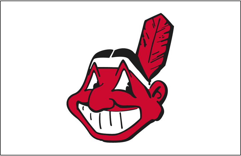Cleveland Indians Logo Jersey Logo (1963-1969) - Chief Wahoo logo in red and black, worn on front of Cleveland Indians home white vests from 1963-69 SportsLogos.Net