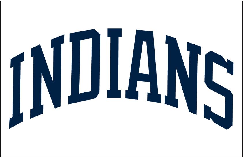 Cleveland Indians Logo Jersey Logo (1978-1985) - (Home) Indians in blue block lettering SportsLogos.Net