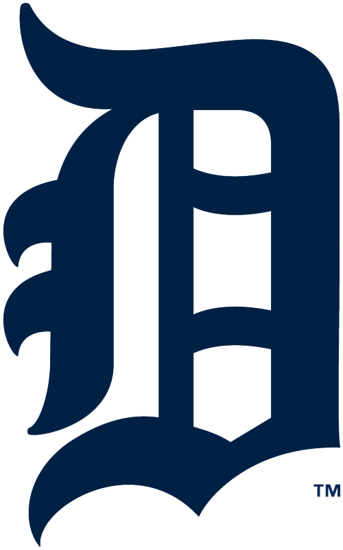 Detroit Tigers Logo Primary Logo (1925) - Olde-English style navy blue D SportsLogos.Net