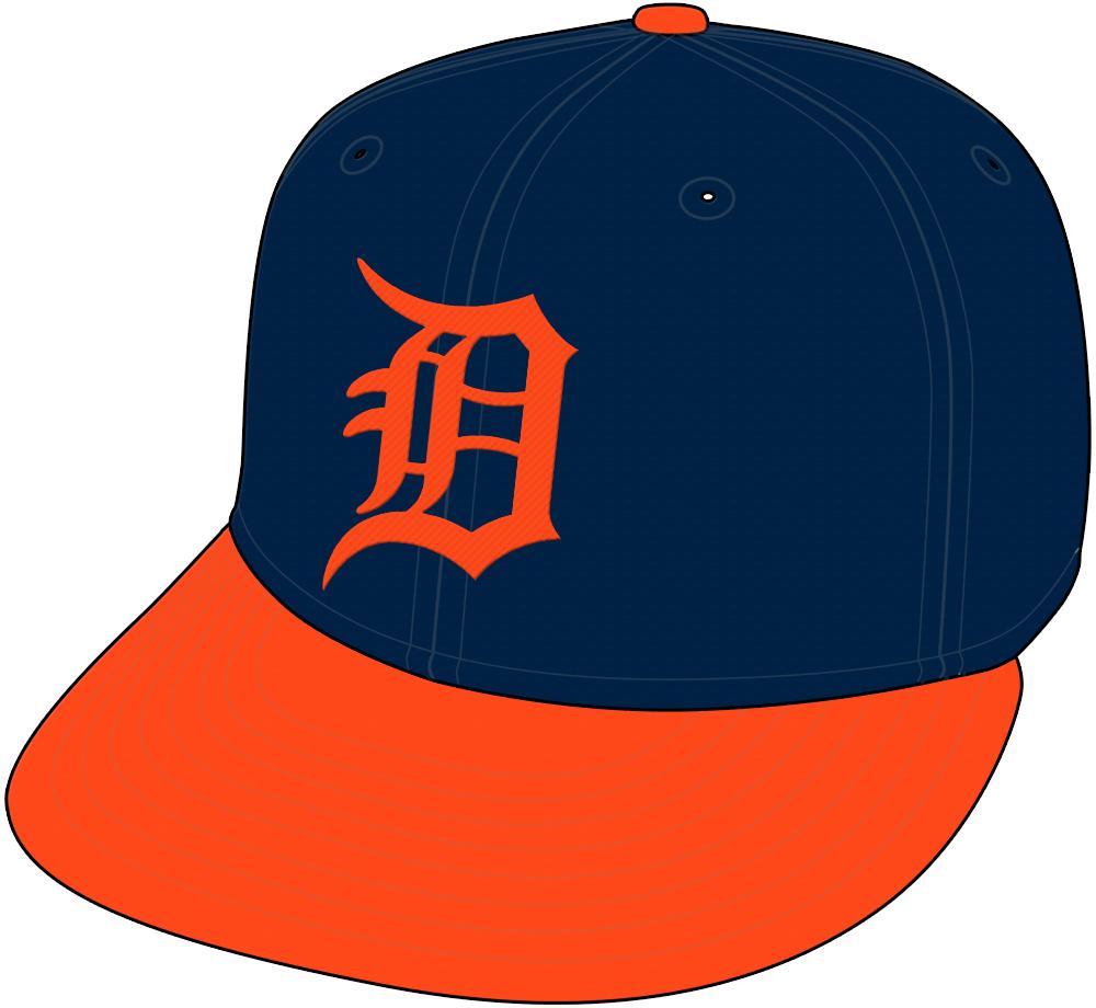 Detroit Tigers Cap Cap (1994) - Road alternate cap SportsLogos.Net