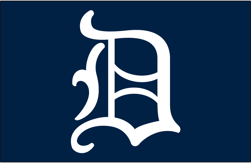 Detroit Tigers Logo Cap Logo (1966-1967) - A white D on a blue cap, worn on Tigers caps in 1966 and 1967 SportsLogos.Net