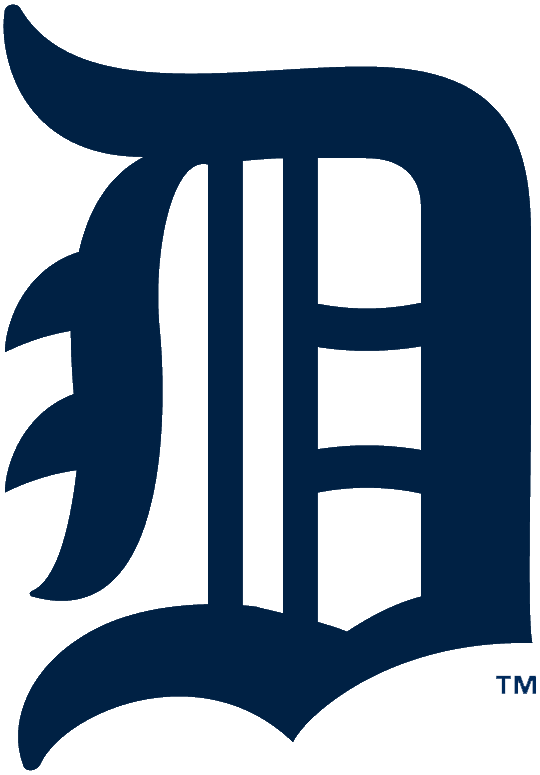 Detroit Tigers Logo Primary Logo (1926) - Olde-English style navy blue D SportsLogos.Net